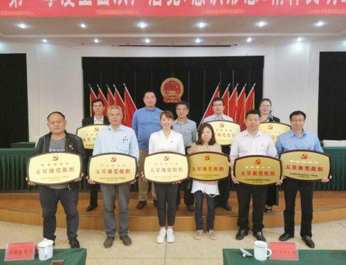 福贞党支部喜获五星级党支部的授牌